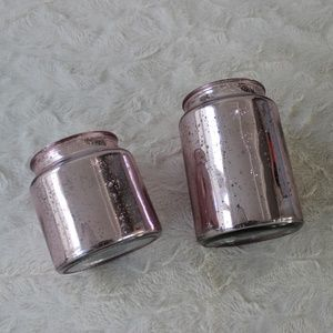 EUC: Set of 2 Matching Glass containers/vases